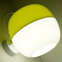 Contemporary wall light / metal / PMMA / LED