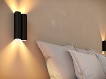 Contemporary wall light / aluminum / steel / LED