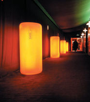 Contemporary light column / polyethylene / metal / LED