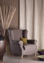 Upholstery fabric / plain / linen / jacquard