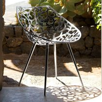 Contemporary chair / stainless steel / by Philippe Starck