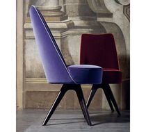 Contemporary chair / upholstered / beech / ebony