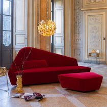Contemporary sofa / velvet / leather / by Lievore Altherr Molina