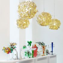 Pendant lamp / original design / blown glass / brass