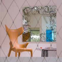 Wall-mounted mirror / contemporary / square
