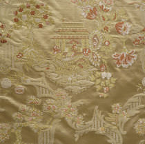 Upholstery fabric / floral pattern / viscose / silk
