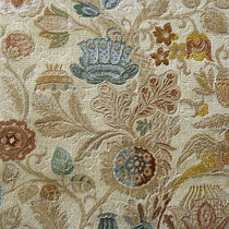 Upholstery fabric / floral pattern / linen / cotton