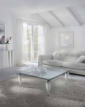 contemporary coffee table / crystal / rectangular / outdoor