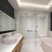 Contemporary bathroom / glass / ceramic