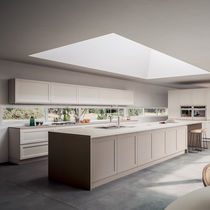 Contemporary kitchen / ash / solid wood / island