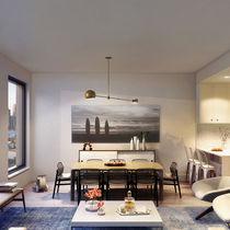 Contemporary dining table / wooden / rectangular / custom
