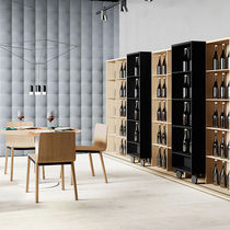 Modular shelf / contemporary / wooden / commercial
