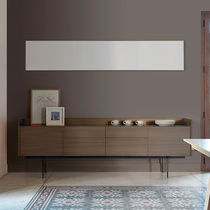 Contemporary sideboard / oak / walnut / wood veneer