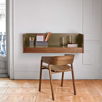 Oak desk / wood veneer / walnut / MDF
