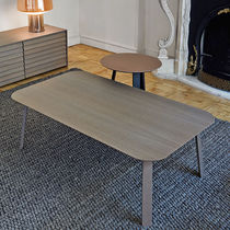 Contemporary coffee table / oak / walnut / MDF