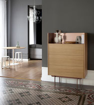 High sideboard / contemporary / oak / walnut
