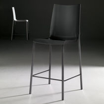 Contemporary chair / upholstered / solid wood / lacquered wood ...