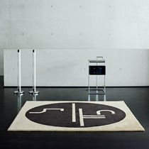 Contemporary rug / wool / square / patterned