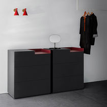 Contemporary chest of drawers / lacquered MDF