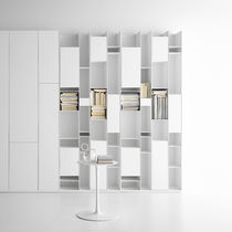 Modular bookcase / contemporary / melamine / lacquered MDF