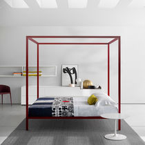 Canopy bed / double / contemporary / aluminum