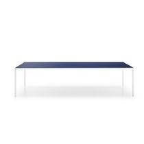 Contemporary table / tempered glass / aluminum / ceramic