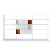 Wall-mounted shelf / modular / low / corner