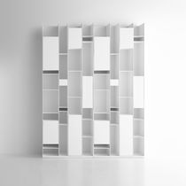 Modular bookcase / wall-mounted / contemporary / commercial