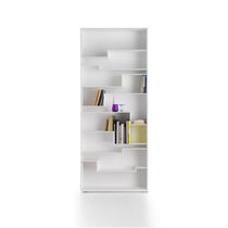 Modular bookcase / contemporary / lacquered MDF / melamine