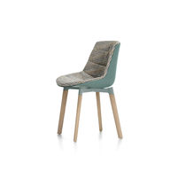 Contemporary dining chair / upholstered / with removable cushion / wooden