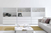 High sideboard / contemporary / aluminum / MDF