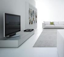 Contemporary TV cabinet / lowboard / modular / aluminum