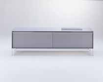 Contemporary sideboard / aluminum / MDF