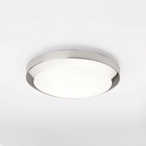 Contemporary ceiling light / round / glass facing / incandescent