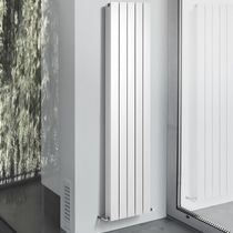 Hot water radiator / vertical / aluminum / wall-mounted