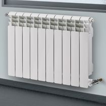 Hot water radiator / horizontal / cast aluminum / wall-mounted