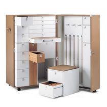 Trunk wardrobe / contemporary / oak / MDF