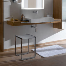 Shower stool / contemporary / chromed metal / for bathrooms