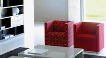 Contemporary armchair / polyether / on casters