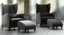 Contemporary armchair / polyether / wing
