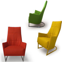 Contemporary armchair / cantilever / fabric / for public buildings