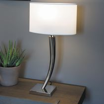 Table lamp / contemporary / cotton / white