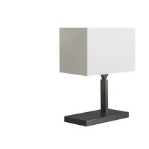 Table lamp / contemporary / fabric / white