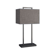 Table lamp / contemporary / linen / brown