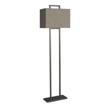 Floor-standing lamp / contemporary / cotton / linen