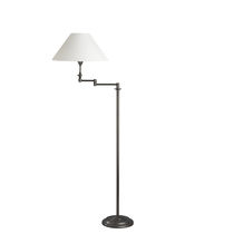 Floor-standing lamp / traditional / fabric / swing-arm