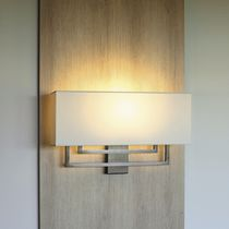 Traditional wall light / brass / cotton / halogen