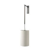 Contemporary wall light / cotton / halogen / adjustable
