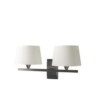 Contemporary wall light / brass / fabric / halogen