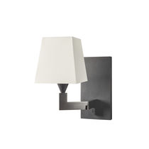 Contemporary wall light / brass / cotton / halogen
